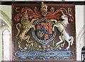 SX1460 : The Boconnoc Estate - parish church of Boconnoc (dedication unknown) - Royal Arms by Mike Searle