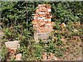 TM3556 : The remains of the Church Corner George VI Postbox by Adrian Cable