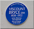 Photo of Viscount Bryce blue plaque
