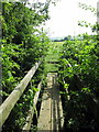 SP7523 : Footbridge on the path to Fulbrook by Philip Jeffrey