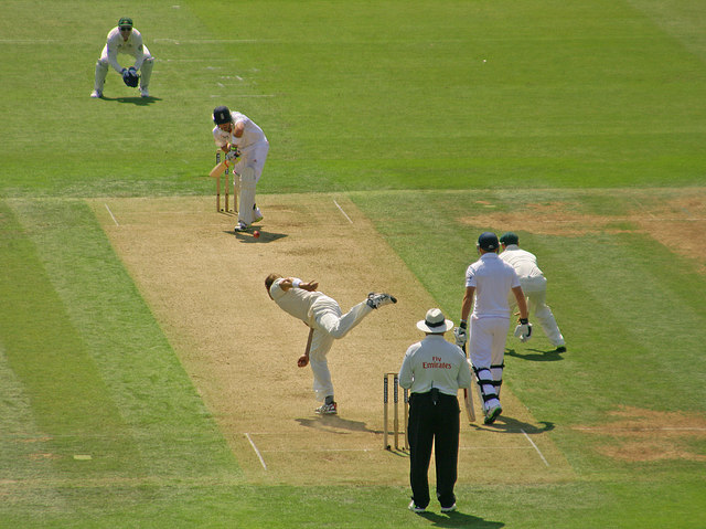 The first day of the Second Ashes Test