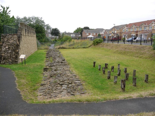Remains of Hadrian's Wall, off Buddle Street, Wallsend