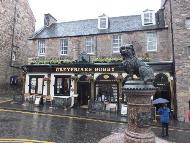 Greyfriars Bobby on a grey Edinburgh day