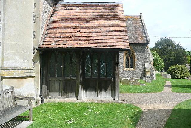 Hambleden church porch