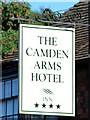 TQ6240 : The Camden Arms Hotel sign by Oast House Archive