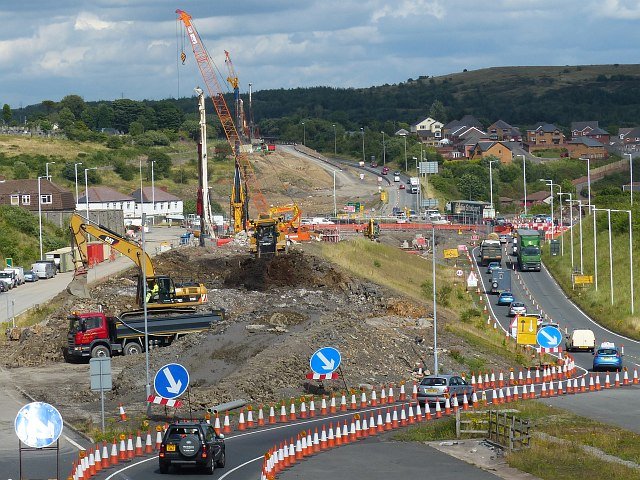 A465 improvements, Nantybwch roundabout (4)