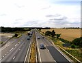 TL2769 : A14 towards Huntingdon by Andrew Tatlow