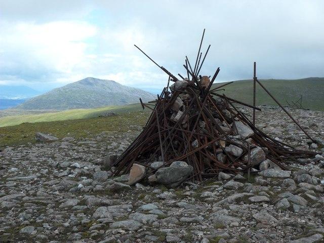 Summit cairn, Meall Garbh