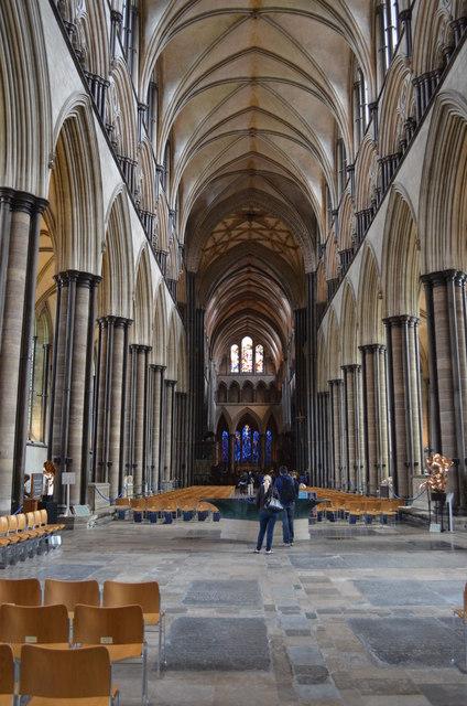 Nave looking east, Salisbury Cathedral © Julian P Guffogg ...