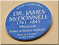 Photo of James McDonnell blue plaque
