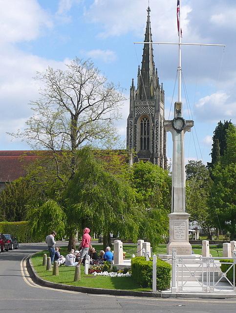 Marlow war memorial and church