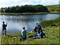 SO1811 : Fishing at Machine Pond, Brynmawr by Robin Drayton