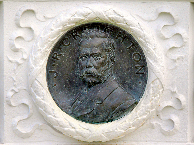 Bronze portrait of J.R. Creighton, twice mayor of Carlisle