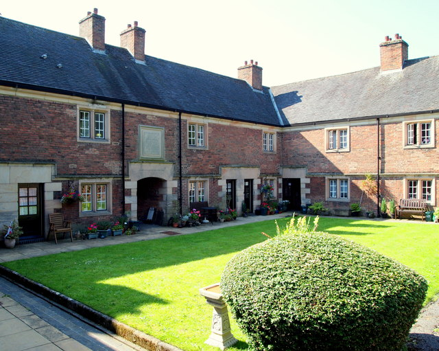 Spalden's Almshouses, Ashbourne, Derbys.