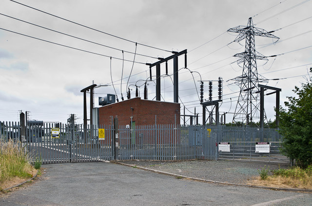 Ludlow Primary Substation Ian Capper Geograph Britain And Ireland