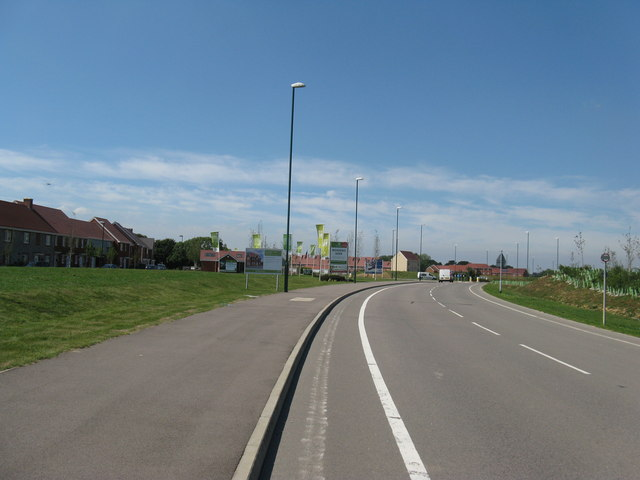 Blakes Mead a new housing estate south of Flansham