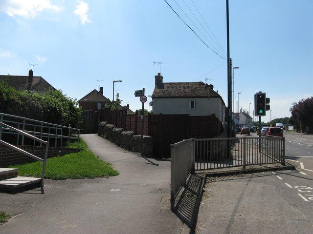 Public footpath 3585 off the A259 at Felpham