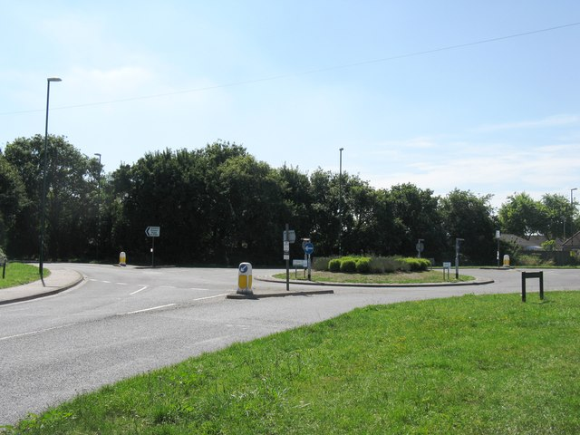 Roundabout on the B2166 at Aldwick