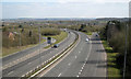 SP0465 : Bromsgrove Highway west of the cloverleaf junction, Redditch by Robin Stott