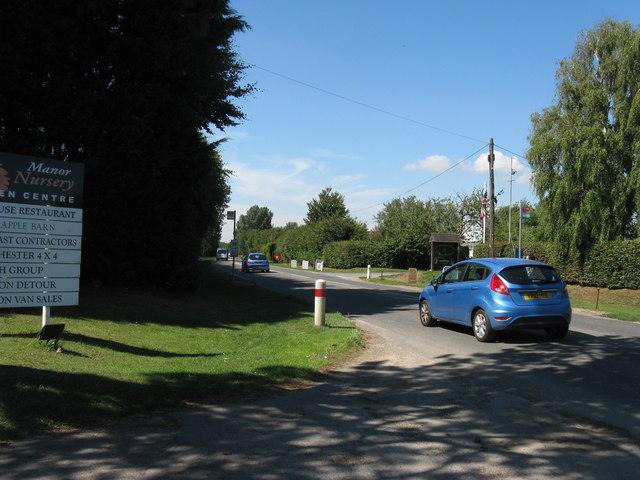 B2166 passing Manor Nursery at Runcton