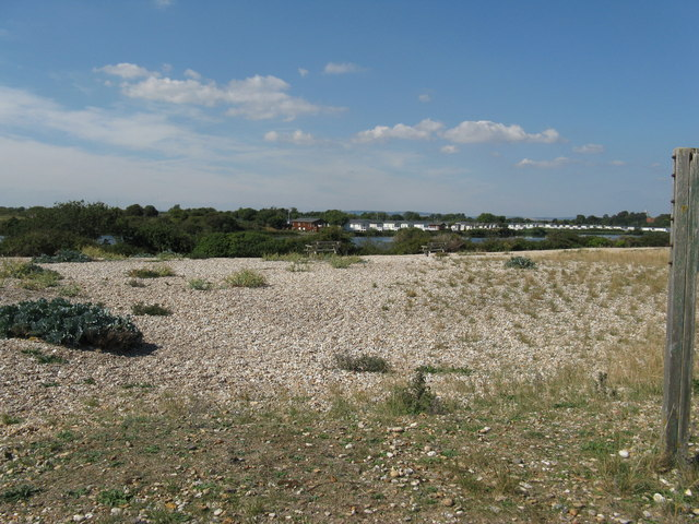 View of holiday village from across Pagham lagoon