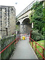 SE0125 : The ramp down to New Road from Mytholmroyd Station by Humphrey Bolton