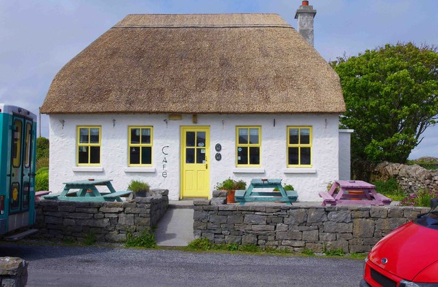 Café at Cill Mhuirbhigh (Kilmurvy), Inishmór (Árainn), Aran Islands, Co. Galway