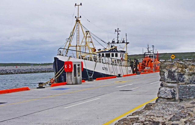 "The trawler ""Village Queen"" (G751) at Cill Rónáin (Kilronan), Inishmór, Aran Islands, Co. Galway"