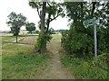 TL1482 : Public footpath to Little Gidding by Richard Humphrey