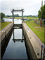 TL5065 : Bottisham Lock, looking upstream by Rose and Trev Clough