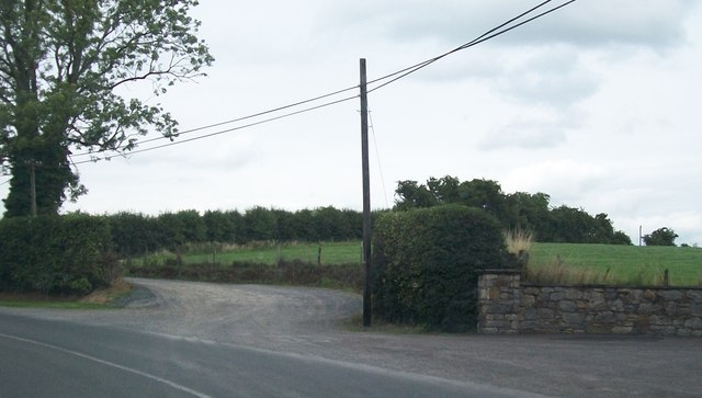 Farm access lane leading off the R164 at Knockaranny