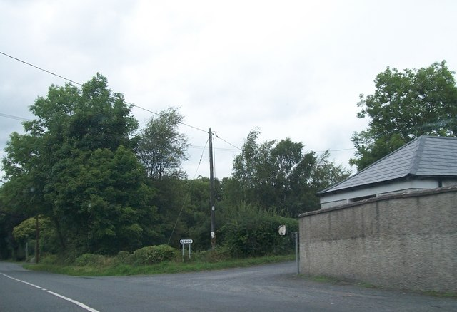 The R164 at the junction with the L28106 at Baltrasna south of Moynalty