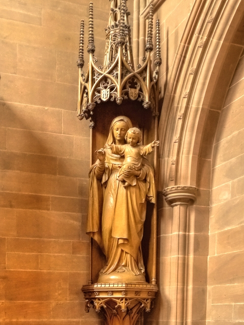 Mary with Jesus, Clumber Chapel