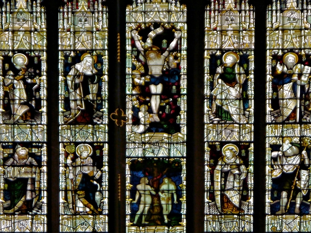 Stained Glass Window (detail), Chapel of St Mary, Clumber Park