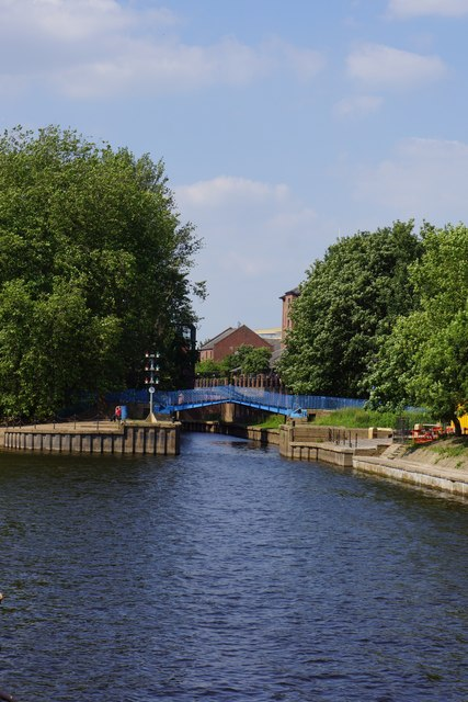 Confluence of the River Ouse and River Foss, York
