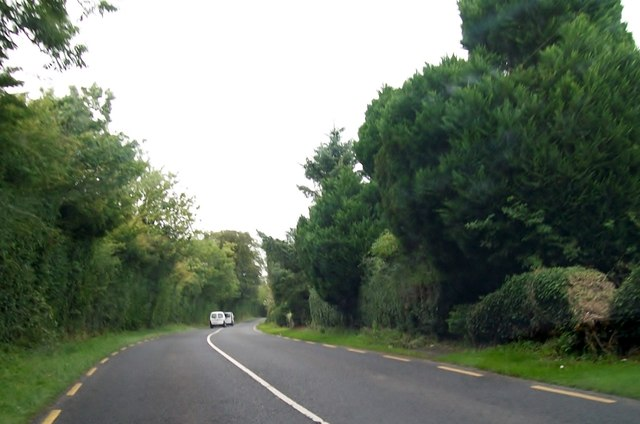 The R164 north of the junction with the Whitecommons Road