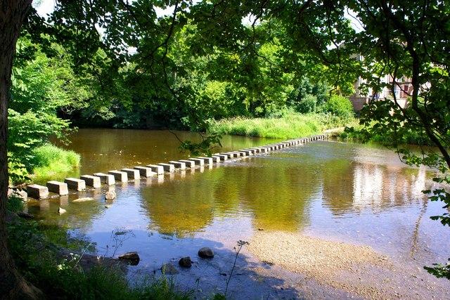 Stepping Stones, River Wansbeck, Morpeth