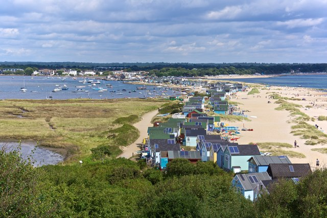 Mudeford Sandbank, view from Hengistbury Head
