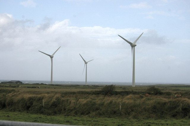 Wind turbines near Lackan