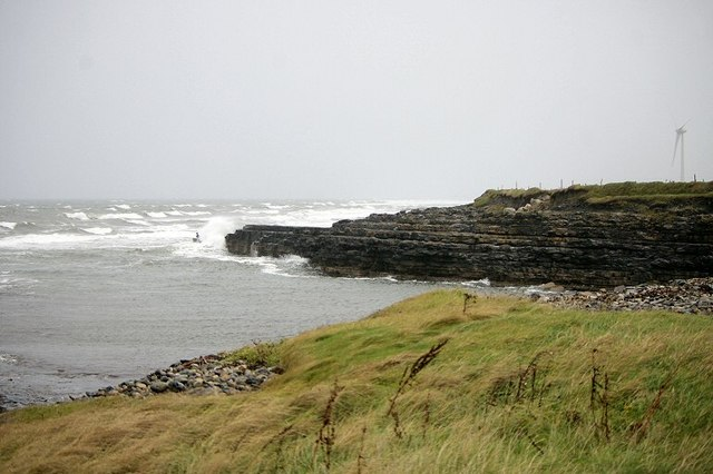 Coastal scene near Lackan