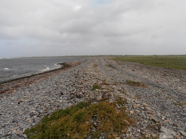 Shingle ridge near Pollacheeny Harbour