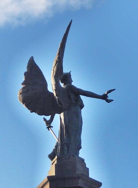 The winged figure of Victory, Boer War Memorial