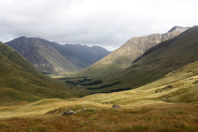 View from lower slopes of Meall Ligiche