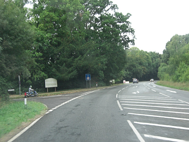 A3090 junction with Hook Road