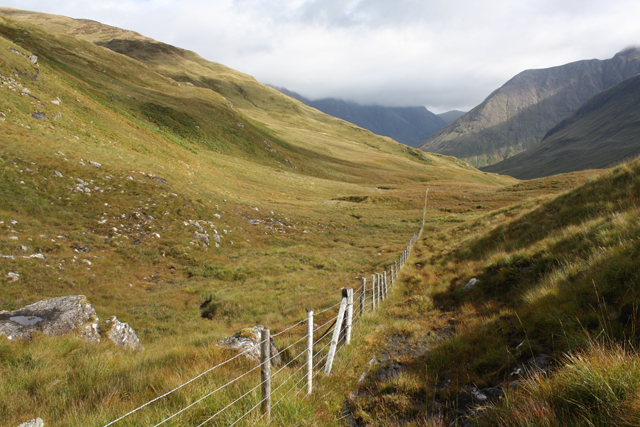 Sheep fencing south of Meall a'Bhuighe