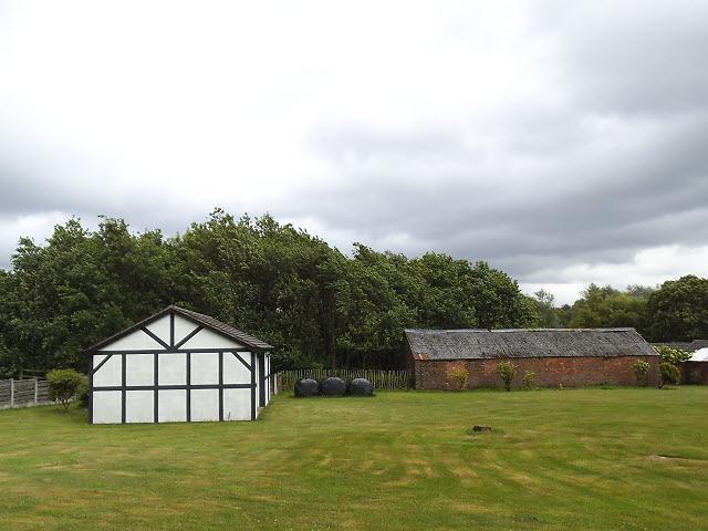Mock timber-framed shed