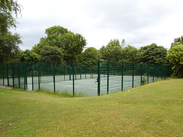 Tennis courts in Sandbach Park