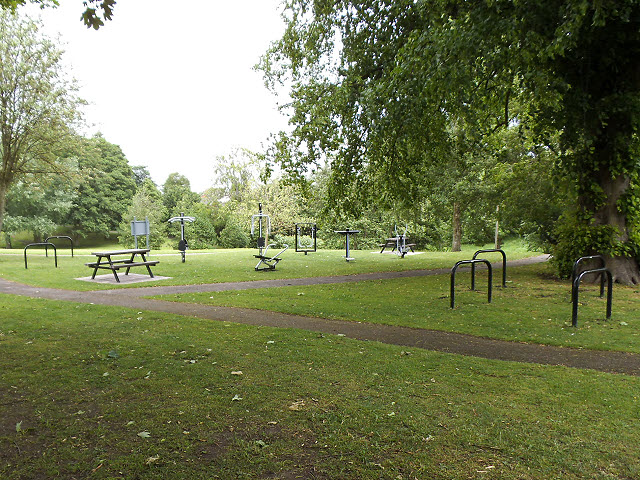 Outdoor gym in Sandbach Park