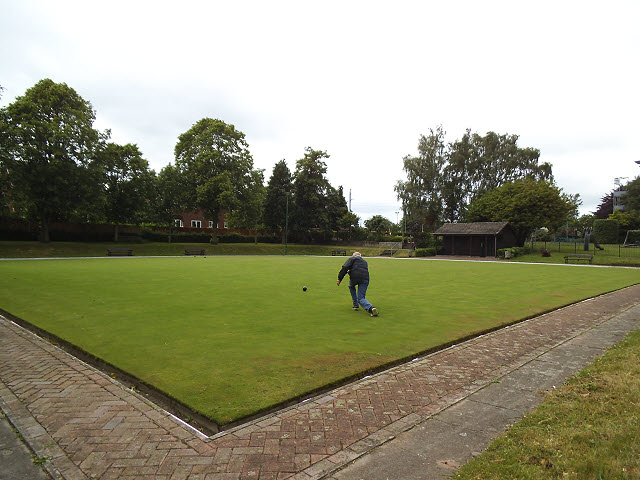 Bowling green in Sandbach Park