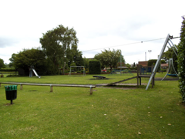 Play area in Sandbach Park